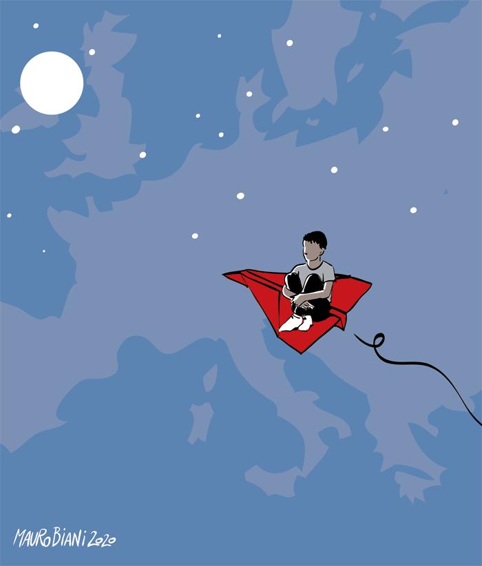 Il Sogno Dell'Europa Svanito In Un Carrello D'aereo