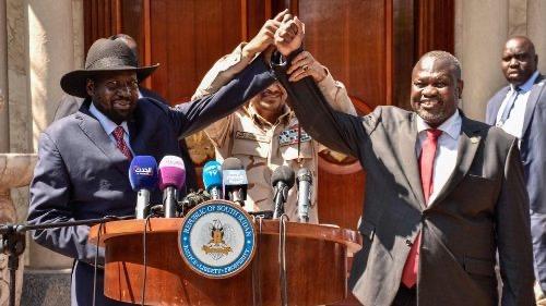 "Sud Sudan, Vice Presidents Sworn In. President Salva Kiir, ""Peace Is Here In Juba"""