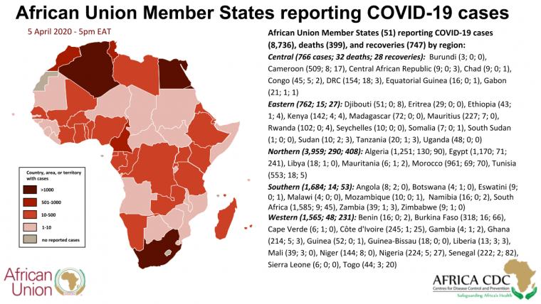 Covid-19, Con Il Sud Sudan Salgono A 51 Le Nazioni Africane Colpite