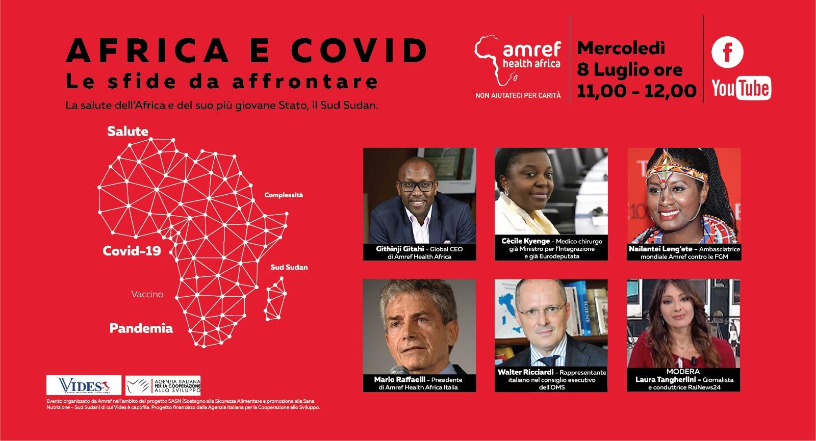 Africa E Covid-19. Le Sfide Da Affrontare. Mercoledì 8 Ne Parlano Esperti E Rappresentanti Di Amref