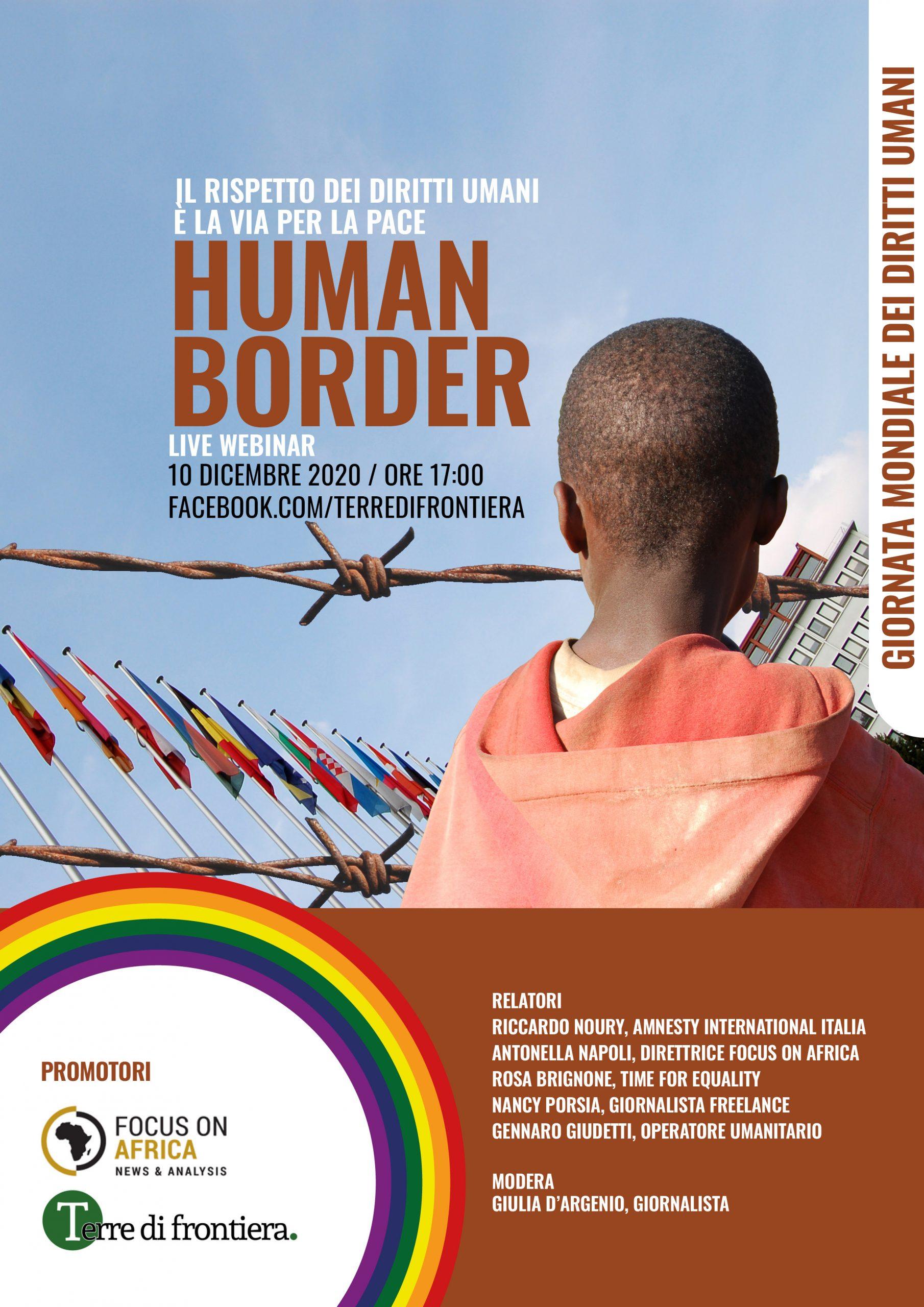 10 Dicembre Webinar Focus On Africa E Terre Di Frontiera: Rispetto Diritti Umani Via Della Pace