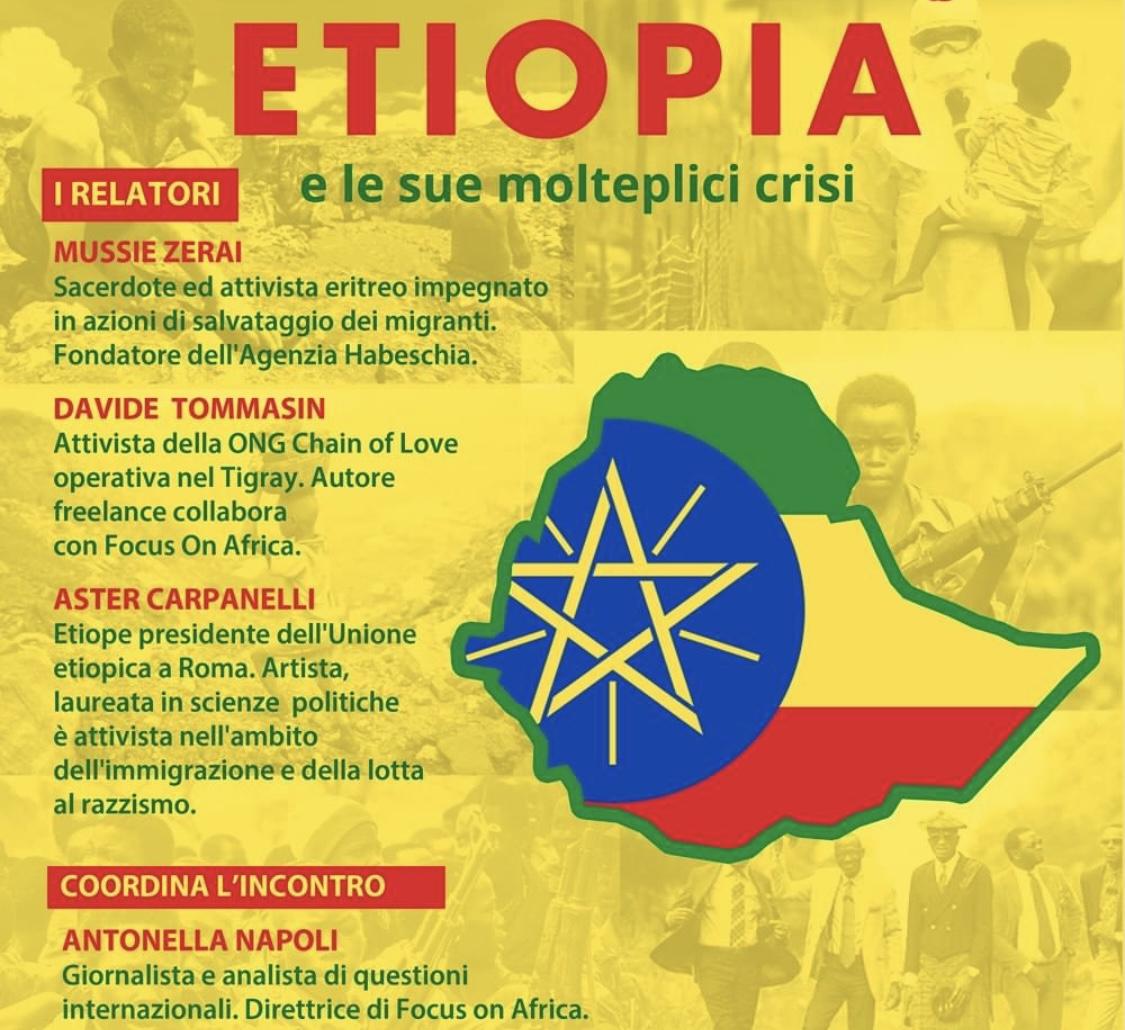 """""""Etiopia E Le Sue Molteplici Crisi"""" Webinar Martedì 13 Aprile Con Chiama L'Africa"""